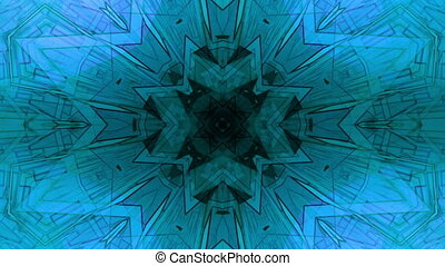 Blue geometric XN23 Loop - Geometric blue kaleidoscope...