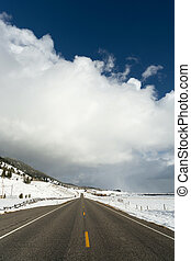 Stormy Skies Thunder Clouds Big Sky Country Montana Weather Approaching
