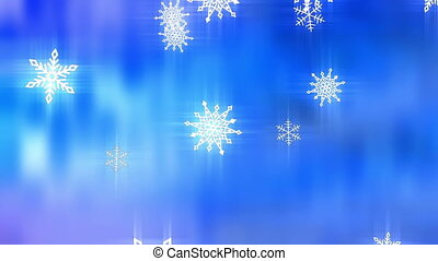 Snow flakes abstract loop - Animated snow flakes abstract...