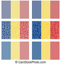 Mosaic Romania flag set