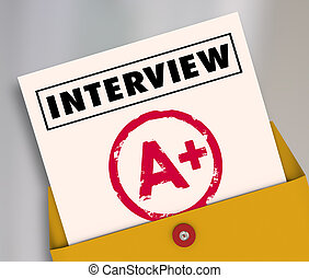 Interview Report Card Grade Answer Questions Get Job Hired