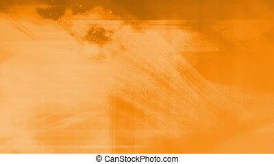 Orange geometric abstract loop X23N