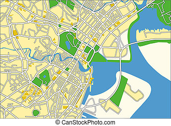 Singapore - Vector map of Singapore