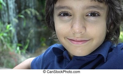 Preteen Hispanic Boy in Nature - Preteen Hispanic Boy...