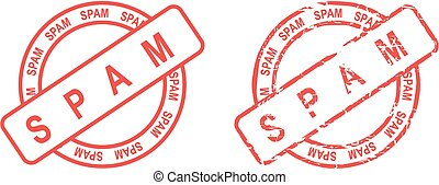 spam stamp sticker in vector format very easy to edit