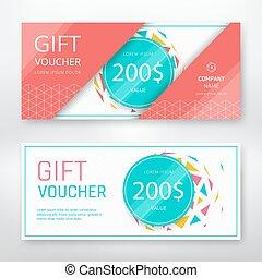 Gift voucher template - Gift voucher modern design template....