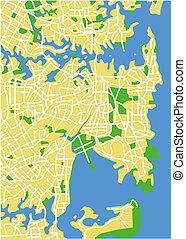 Sydney - Vector map of Sydney