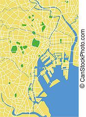 Tokyo - Vector map of Tokyo.