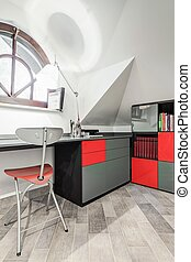 Modern home study - Modern empty home study in mimalistic...