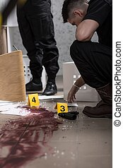 Body at the crime scene - There is no body found at the...