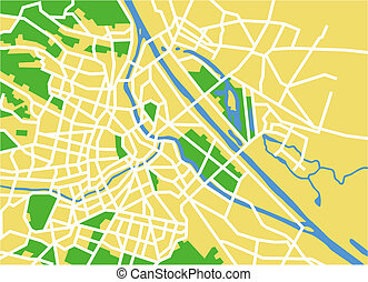 vienna - Vector map of vienna.