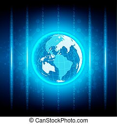 Abstract globe digital technology