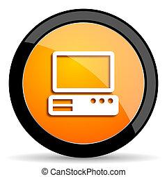 computer orange icon