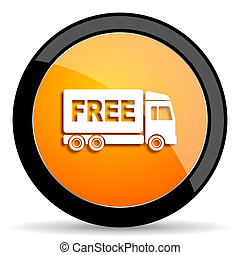 free delivery orange icon