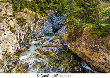 Natural Bridge Park - The Boulder river flowing through...