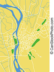 cairo - Vector map of cairo