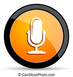 microphone orange icon