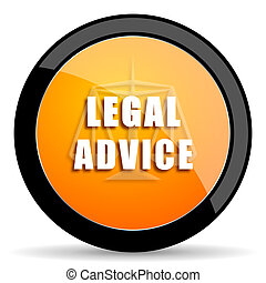 legal advice orange icon