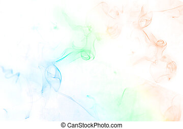 incense smoke - Colorful incense smoke, abstract shape on...
