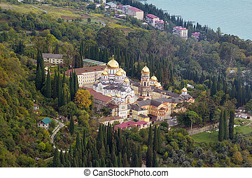 Abkhazia New Athos Monastery - The general plan of the male...