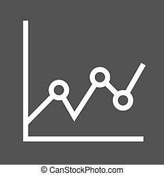 Statistical Graph - Graph, chart, business icon vector...