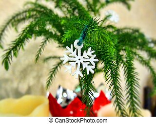 Christmas tree snowflake snow flake decoration decorating...