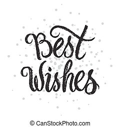 Best Wishes handwritten text on stipple...