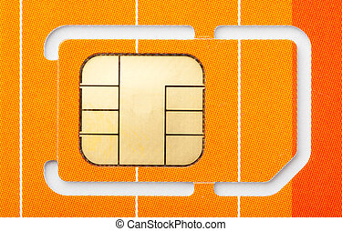 Mobile phone sim card - Close-up of a mobile phone sim card