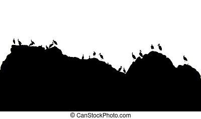 montañas, Cigüeñas