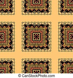 abstract seamless pattern - Beautiful vintage colored...