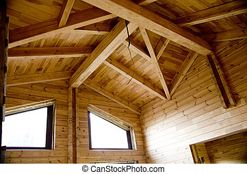 Wooden beams - very good material for construction