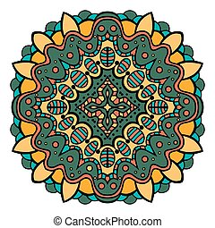 Mandala Square ornament, tribal ethnic pattern, arabic...