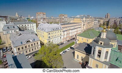Panoramic view of the building from the roof of center...