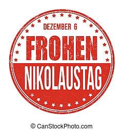 Happy Saint Nicholas stamp - Happy Saint Nicholas in german...