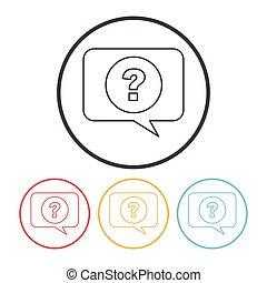 question line icon