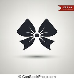 Gift ribbon bow vector background