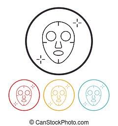 Facial mask line icon