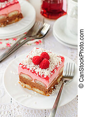 No Bake Chocolate, Raspberry and Savoiardi Layer Cake - A...