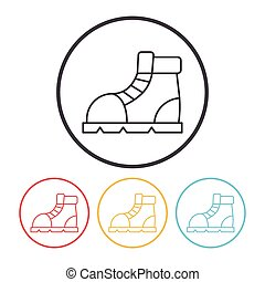 camping boot line icon