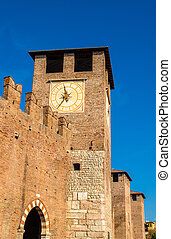 Towers of Castelvecchio fortress in Verona - Italy