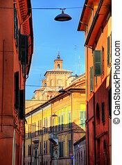 Street in the historic centre of Ferrara - Italy