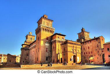 Castello Estense or castello di San Michele in Ferrara -...