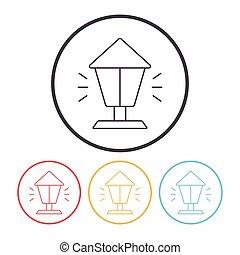street light line icon