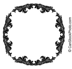 Vintage vector frame with place for text or picture. For...