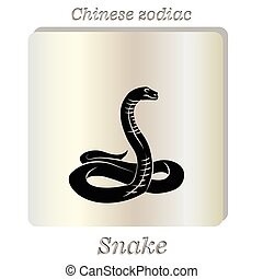 Vector Black snake - Vector illustration Black snake on...