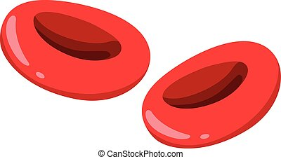 Close up red blood cells