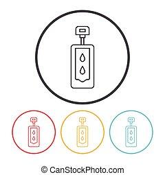 Toilet seat line icon