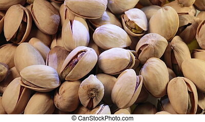 Pistachio nuts background