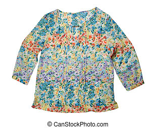 blouse - Summer blouse with a floral pattern isolated on...