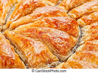 Baklava background - Baklava eastern sweet dessert...
